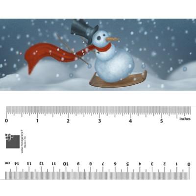 Skiing Snowman Bookmark