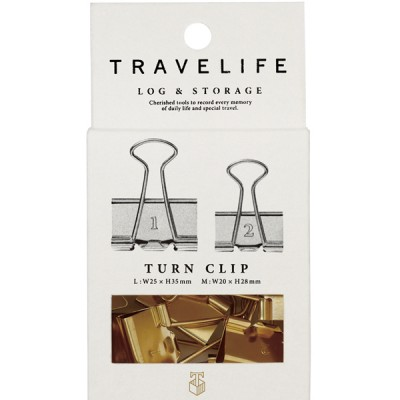 Turn Clip Set, Number, TRAVELIFE // Gold