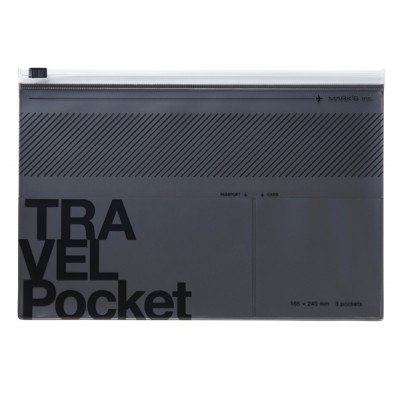 Flat file case, TRAVEL KIT  // Metallic grey