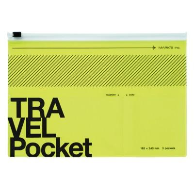 Flat file case, TRAVEL KIT  // Neon Yellow