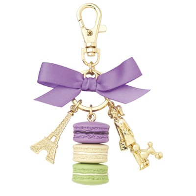 Ladurée Macarons Keyring - Oval Gift Box
