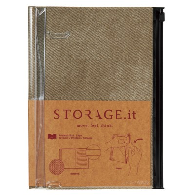 Notebook L, STORAGE.IT // Vintage Denim Beige
