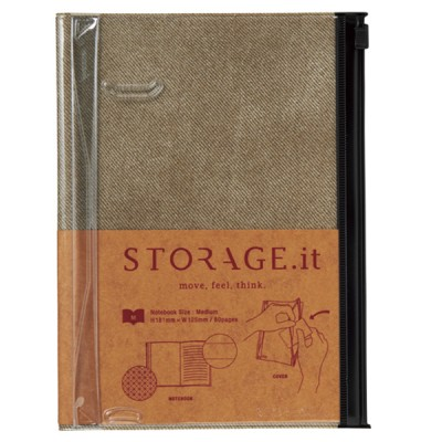 Notebook M, STORAGE.IT // Vintage Denim Beige