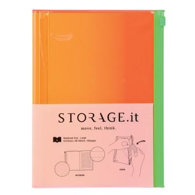Notebook L, STORAGE.IT // Yellow gradation