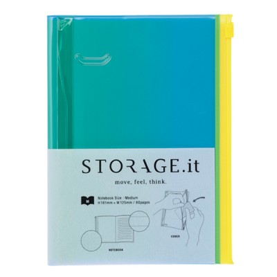 Notebook M, STORAGE.IT // Green gradation