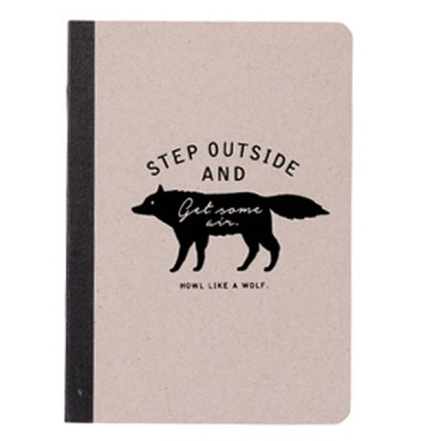A6 Notebook Wolf Collection
