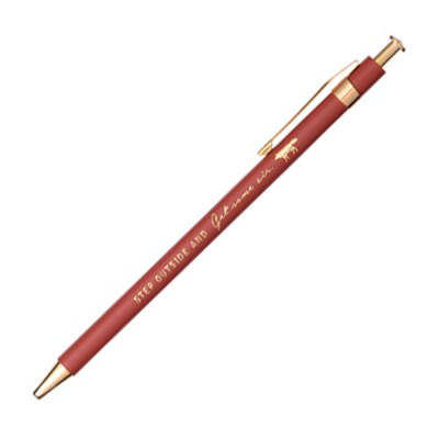 Ballpoint Pen Zakka Collection - Red / Wolf