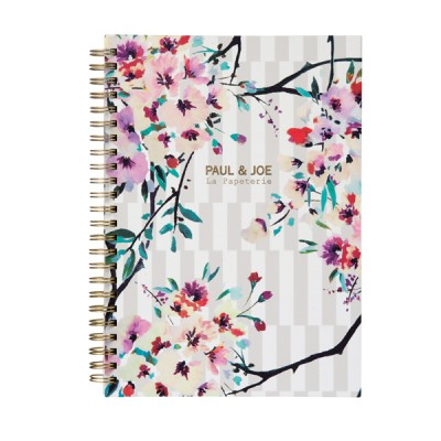 A5 Notebook, PAUL & JOE  // Stripe Bouquet