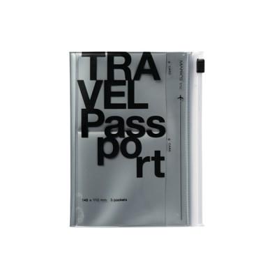 Passport case, TRAVEL KIT // Silver