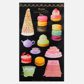 Stickers Macarons, Ladurée // Black