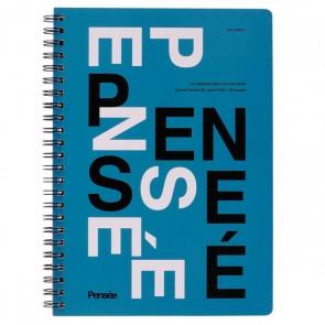 A5 Notebook, PENSÉE // Blue