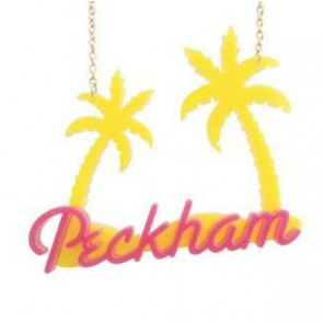 Yellow/Pink Peckham Palm Necklace