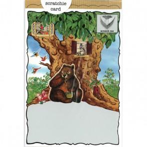 Treehouse Bear Birthday Scratchie Card